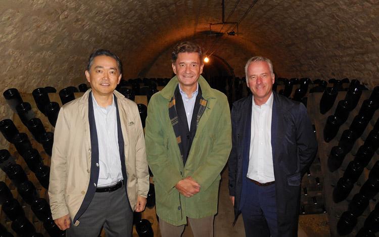 Visite des Patrons d'Enoteca en Champagne 1
