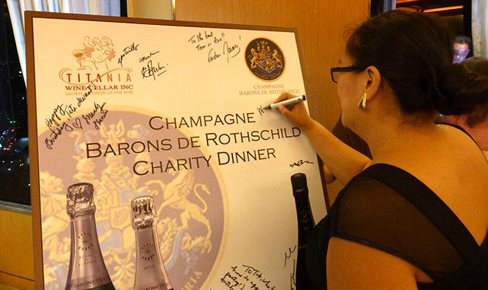 Dîner de Charité avec les Champagnes Barons de Rothschild 1